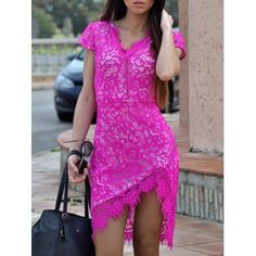 SHARE & Get it FREE | Sexy V-Neck Lace Embroidered Short Sleeve Women's Bodycon DressFor Fashion Lovers only:80,000+ Items·FREE SHIPPING Join Dresslily: Get YOUR $50 NOW!