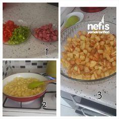 Kahvaltılık Fırında Sosisli Patates 2