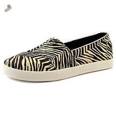 Toms Avalon Slip-Ons Zebra Printed Calf Hair 10006320 Womens 9.5 - Toms sneakers for women (*Amazon Partner-Link)