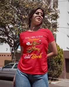 All I Need Is My Dachshund Dog A Good Book Mugs - Red dachshund miniature, dachshund sweater, dachshund birthday #dachshundpuppy #sausagedogcentral #dogsofinstaworld, dried orange slices, yule decorations, scandinavian christmas Black Dachshund, Dachshund Sweater, Dapple Dachshund, Long Haired Dachshund, Dachshund Gifts, Funny Dachshund, Dachshund Puppies, Kansas City Football, Football Team