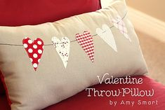 hearts on a string pillow.