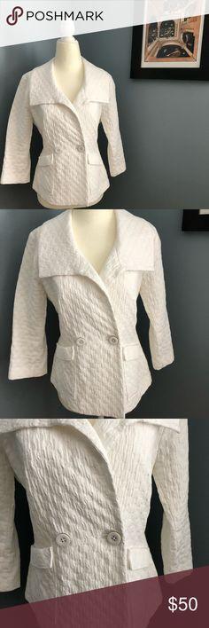 CAbi Blazer Size US M/ White CAbi blazer with pocket front detail ✨ CAbi Jackets & Coats Blazers