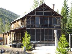"""""""Whispering Pines"""" one of the oldest Historic Homes in Grand Lake, Colorado....not far from the Rapids and located on the channel between Grand Lake and Shadow Mountain Reservoir."""