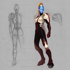 Tau Commander by Kobold-Art on DeviantArt Character Concept, Character Design, Tau Army, Star Trek Rpg, Tau Warhammer, Tau Empire, Alien Concept, Alien Races, Model Pictures