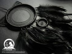 Black+Cat+Dream+Catcher+/+Home+Decor+Wall+Bedroom+by+TheInnerCat
