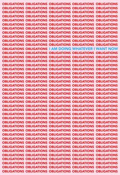 Typography and font ideas and inspiration. Tyler Spangler –Obligations / I am doing whatever I want now poster. Love the red, pink and blue colour combination.