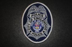 Englewood Police Jacket Patch, Arapahoe County, Colorado