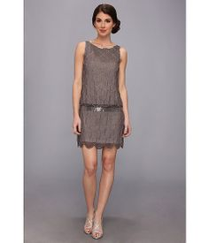 Adrianna Papell Short Fish Scale Bead Dress - really fits the Art Deco theme