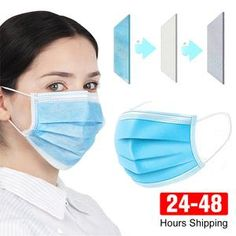 Face Mouth Anti Virus Mask Disposable Protect 3 Layers Filter Dustproof Non Woven Masks Filter, Best Face Mask, Face Masks, Protective Mask, Masks For Sale, Mouth Mask, Ear Loop, Mask Making, Coven