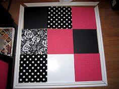 PB knockoff bulletin board - pegboard, cork, white board