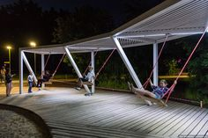 Pictures - canopy in the park: 8 thousand images found in Yandex. Landscape Architecture Design, Garden Landscape Design, Sustainable Architecture, Architecture Plan, Urban Landscape, Outdoor Awnings, Shelter Design, Public Space Design, Landscape Structure