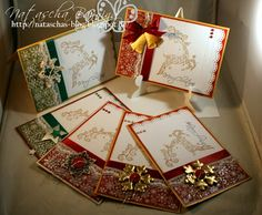 Six Clean and Simple Christmas cards