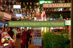 Sukhumvit consists of a variety of restaurants, ranging from trendy restaurants to hip clubs. Check out this longest road that is filled with many sub-streets in Thailand!
