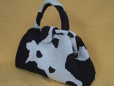 Cow Print Retro Handbag