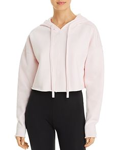 Alo Yoga Edge Cropped Hooded Sweatshirt - New Sweatshirts Online, Hooded Sweatshirts, Yoga Fashion, Cropped Hoodie, Hoods, Hooded Jacket, Clothes, Women, Style