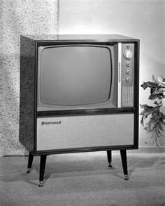 Image result for picture of a black and white TV