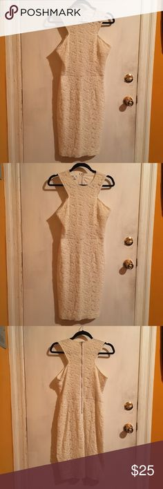 👗 London Times Off-White Lace Dress Cream/Offwhite Midi Lace Dress from London Times. Size 10. London Times Dresses Midi