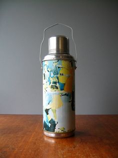 50's Insulated Flask / Thermos - Party Graphics on Etsy, $12.00