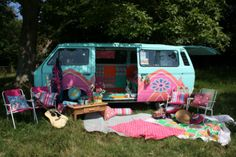 Painted - printed - decorated - summer camping at it's most vibrant! Sophie Goodenough Design