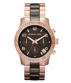 Prachtig horloge met een band gemaakt van keramiek, dat is deze MK5678 van Michael Kors.