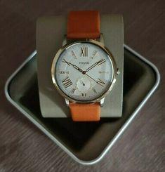 Fossil Gazer Multifunction Luggage Leather Watch ES4161 | eBay Brown Leather Watch, Leather Luggage, Stainless Steel Watch, Fossil, Watches, Ebay, Wristwatches, Clocks, Fossils