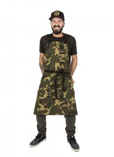 Delantal Chef Camuflaje  Delantal camo . Bistro apron delantal camuflaje | tablier cuisine tablier chef camouflage original Hipster Trendy design Jook Company ®