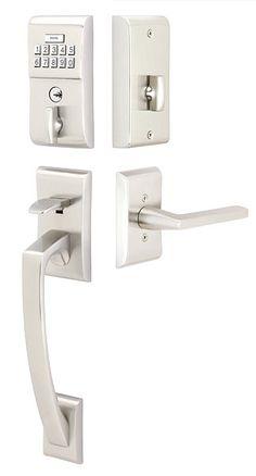 Modern Brass Keypad Entryset   Contemporary Locks   Electronic Locks   Emtek Products, Inc.