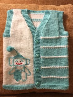 Baby Knitting Patterns, Baby Quilt Patterns, Hand Knitting, Crochet Patterns, Knit Vest, Baby Cardigan, Knit Baby Sweaters, Cardigan Pattern, Diy Arts And Crafts