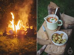 Groentenstoofpotje met kikkererwten - Cooking on a campfire, by Zilverblauw.nl