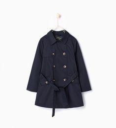Trench coat met ceintuur-Jacks-Meisjes (2-14 jaar)-COLLECTIE AW15 | ZARA Nederland