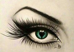 Eye pencil drawing beautiful.