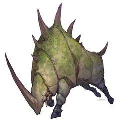 Moss stone rhino