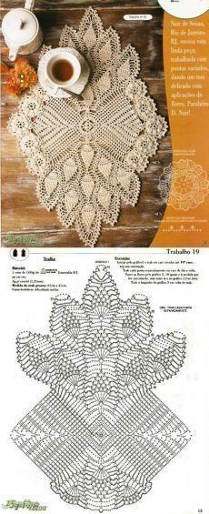 crochet - caminhos de mesa -ru