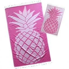 Bubblegum Pink premium Pineapple Turkish Towel