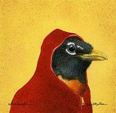 Painting - Robin Hoodie... by Will Bullas