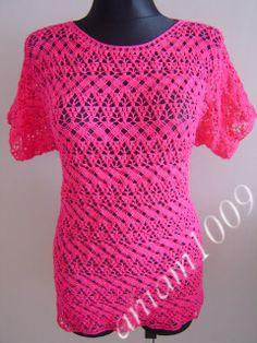 Crochet: AZHURNAYA CROCHET BLOUSE.