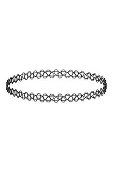 Black Tattoo Choker!  OMG  Topshop are selling them in 2014!  If I had kept all my childhood jewellery I'd be the height of fashion ;)