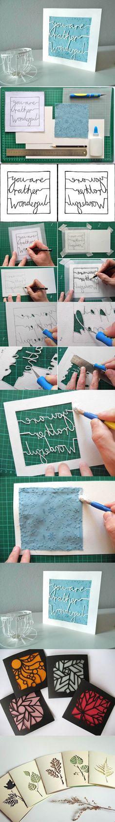 DIY Simple Kirigami Greeting Card | iCreativeIdeas.com Like Us on Facebook ==> https://www.facebook.com/icreativeideas