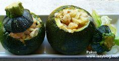 Lazy Blog: Receta de calabacines rellenos de merluza y gambas