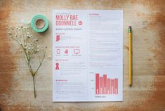 customized resume design / the molly by 23and9Creative on Etsy, $80.00