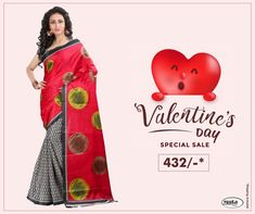 Get Valentine's Day ready without spending thousands of bucks. Check Valentine's Day offers now. Valentine Day Offers, Valentine Day Special, Online Shopping For Women, Online Fashion Stores, Fabric Shop, Silk Fabric, Sale Of The Day, Textile Market, Kids Lehenga