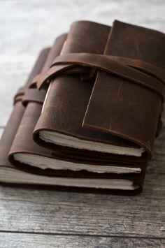 Handmade Rustic Brown Leather Journal
