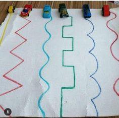Transportation Activities, Motor Skills Activities, Preschool Learning Activities, Indoor Activities For Kids, Infant Activities, Preschool Activities, Montessori Toddler, Kids And Parenting, Brain Gym