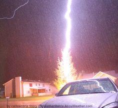 Close lightning strikes