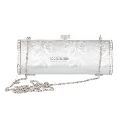 pochette mariage argent pas cher en simili cuir sac main de luxe fermoir clip - Pochette Argente Mariage