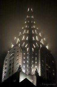 Vintage Chrysler Building in the fog, NYC, www.RevWill.com