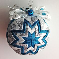 Frosty   Handmade Quilted Ornament by Traceritops on Etsy, $18.00