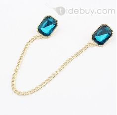Western Exaggeration Bright Square Alloy Lady's Fashion Collar Necklace&Brooch(3colors)