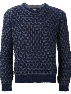 Shop Giorgio Armani patterned crew neck sweater in Italiani from the world's best independent boutiques at farfetch.com. Over 1000 designers from 60 boutiques in one website.