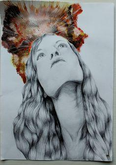 Development Piece 2 - Outcome Small Sketchbook, Sketchbook Pages, Migraine Pain, Trigeminal Neuralgia, Autoimmune Disease, Fine Art, Pictures, Photos, Photo Illustration